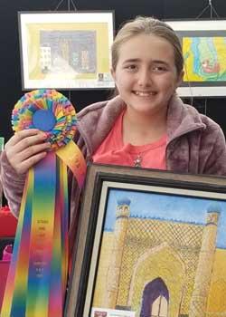 Sophia Rice, Painting, Age 12, Three Oaks Middle School