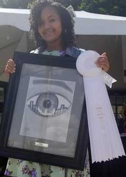 Gabrielle F. Robinson, Drawing, Age 12, Farmington Hills, MI